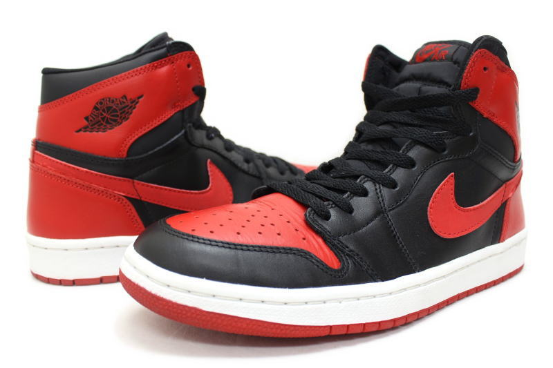 buy online 38a03 11e66 NIKE AIR JORDAN 1 RETRO black / red 2001 reprint 136066-061 Nike Air Jordan  retro 1 BRED bled OG