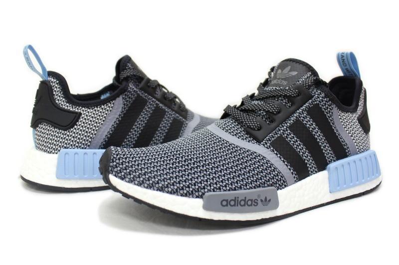 adidas NMD RNR GREY X BLUE S79159 Adidas N M D runner gray X light blue