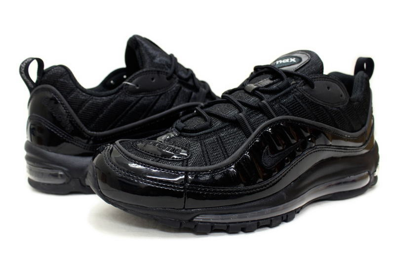 huge discount 9373e c5e1e NIKE AIR MAX 98 / SUPREME BLACK 844694-001 Nike Air Max 98 Supreme Black