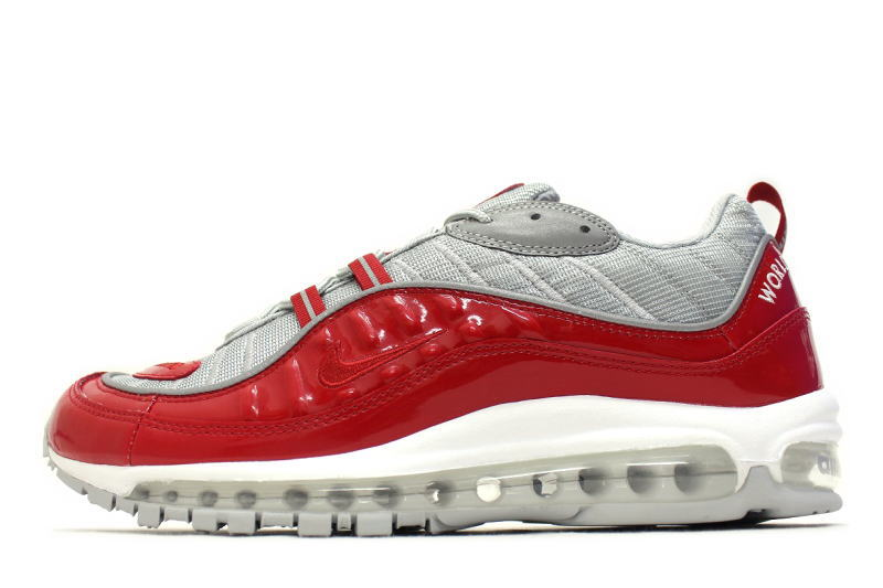 127c4b3eb9 NIKE AIR MAX 98 / SUPREME RED 844694-600 Nike Air Max 98 Supreme Red ...
