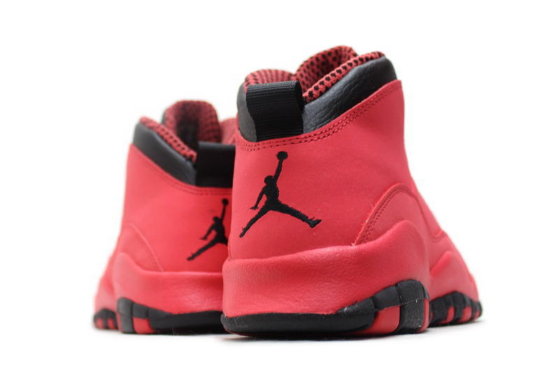 promo code b2164 4bf9b NIKE GIRLS AIR JORDAN 10 RETRO GS-FUSION RED 487211-605 Nike Air Jordan 10  retro fusion red GS women