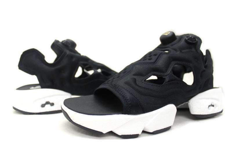 fe08d708243 Reebok INSTA PUMP FURY SANDAL BLACK V69436 Reebok pump fury Sandals black
