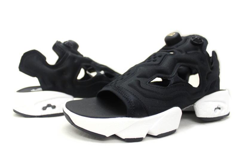 045715d2d Reebok INSTA PUMP FURY SANDAL BLACK V69436 Reebok pump fury Sandals black