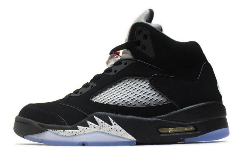 12e356329d5a NIKE AIR JORDAN 5 RETRO OG BLACK METALLIC SILVER 845035-003 Nike Air Jordan  5 retro black   silver