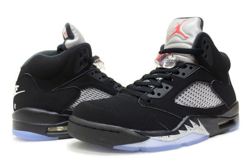 huge discount 62763 665e0 ... NIKE AIR JORDAN 5 RETRO OG BLACK METALLIC SILVER 845035-003 Nike Air  Jordan 5 ...