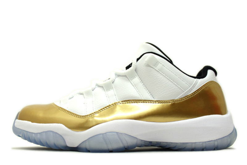 34d81e708cfd NIKE AIR JORDAN 11 RETRO LOW CLOSING CEREMONY 528895-103 Nike Air Jordan 11  retro low closing ceremony METALLIC GOLD metallic