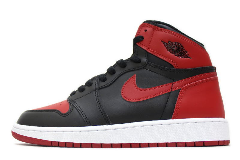 NIKE AIR JORDAN 1 RETRO HIGH OG BG BANNED 2016 575441-001 Nike Air Jordan 1  retro Hi Bernd BRED ladies GS international limited 3df8523a47