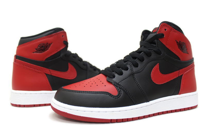 NIKE AIR JORDAN 1 RETRO HIGH OG BG BANNED 2016 575441-001 Nike Air Jordan 1  retro Hi Bernd BRED ladies GS international limited 306f44603