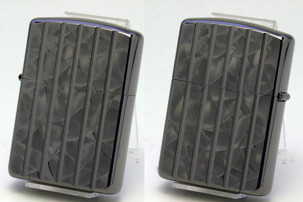 送料無料 ZIPPO ジッポー タテ 開催中 黒ニッケルメッキ162BWCA 両面加工アーマーランダムウェーブカットBK 即納送料無料