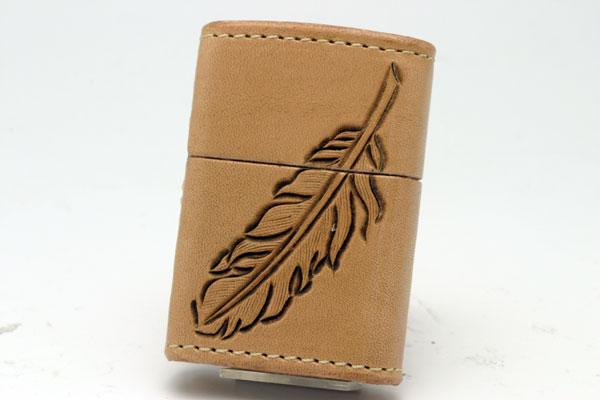 ZIPPO[ジッポー]革巻リーズ Leather Works CHAOS(レザーワークスカオス) LWC(Z)フェザー