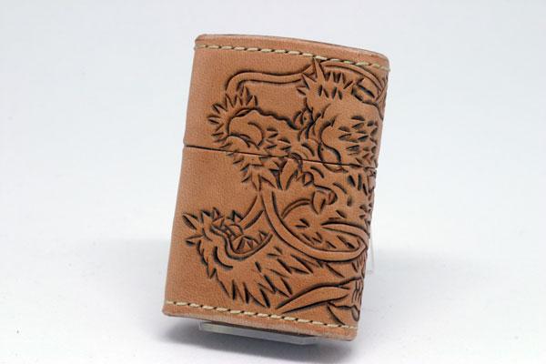 【送料無料】ZIPPO[ジッポー]革巻リーズ Leather Leather Works Works CHAOS(レザーワークスカオス)LWC(Z)龍神(三面), 酒本舗はな:021cb0a9 --- officewill.xsrv.jp