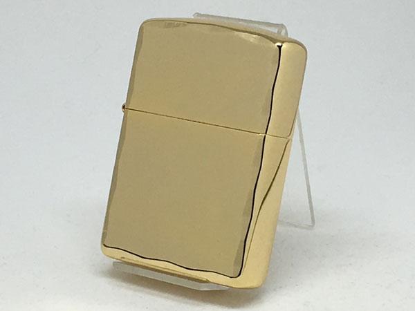 ZIPPO[ジッポー] 両面加工 アーマーシャインレイカット ゴールド鍍金 金タンク仕様