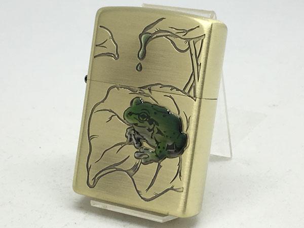 【送料無料】ZIPPO[ジッポー] 蛙(かえる)真鍮古美