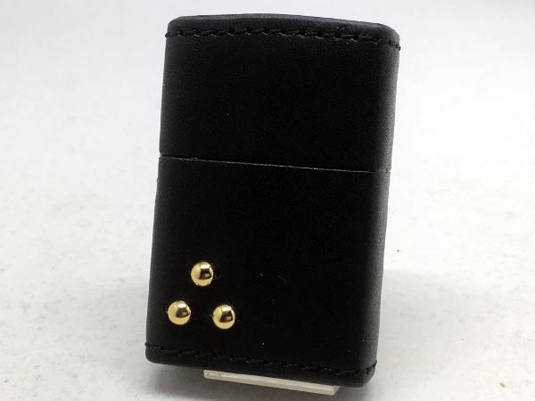 ZIPPO[ジッポー]革巻リーズ Leather Works CHAOS(レザーワークスカオス) LWC(Z)スリードットスタッズ