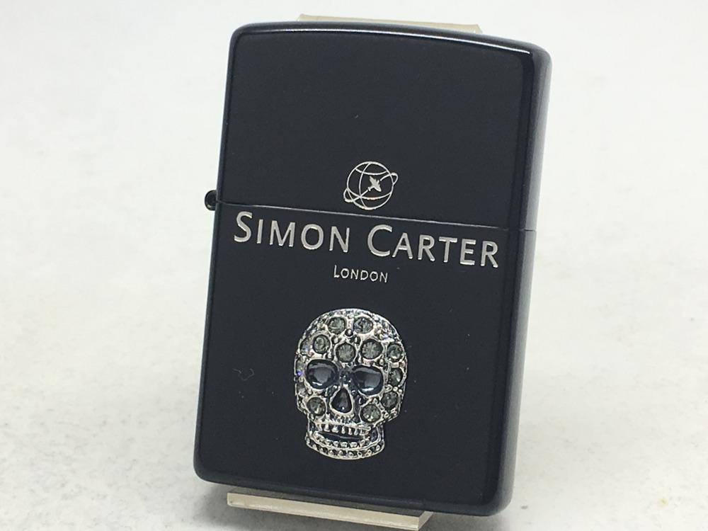 【送料無料】ZIPPO[ジッポー]SIMON CARTER(サイモン・カーター)スカルメタルスワロフスキーIB SCP-043