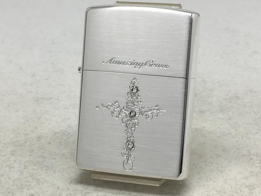 送料無料 ZIPPO[ジッポー]アメージングクロスSS 銀サテン