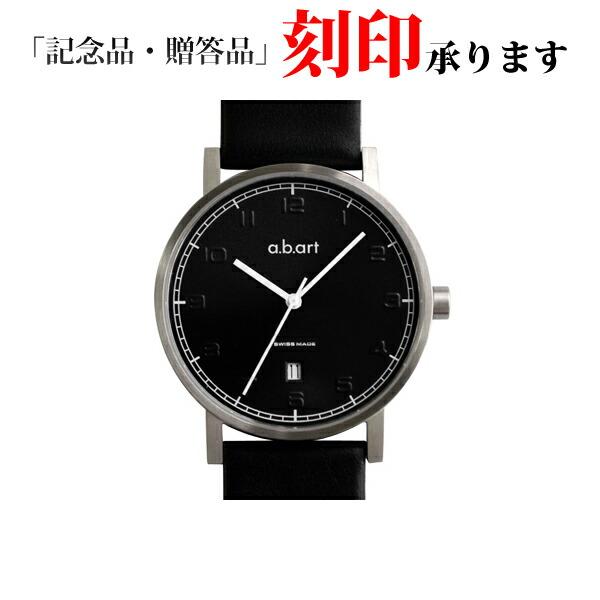 エービーアート 腕時計 O-109 ブラックダイヤル ブラックレザーベルト メンズ 【長期保証3年付】