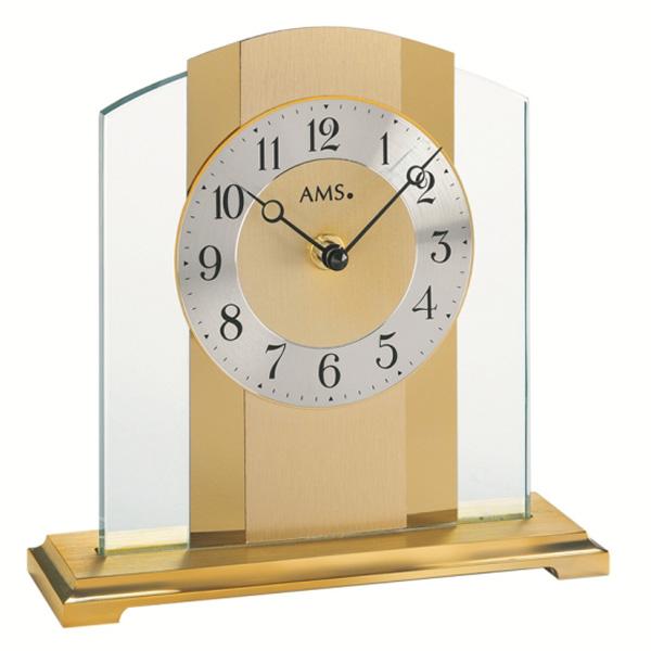 【正規輸入品】ドイツ アームス AMS 1119 クオーツ 置き時計 (置時計) ゴールド 【記念品 贈答品に名入れ(銘板作成)承ります】【熨斗印刷承ります】
