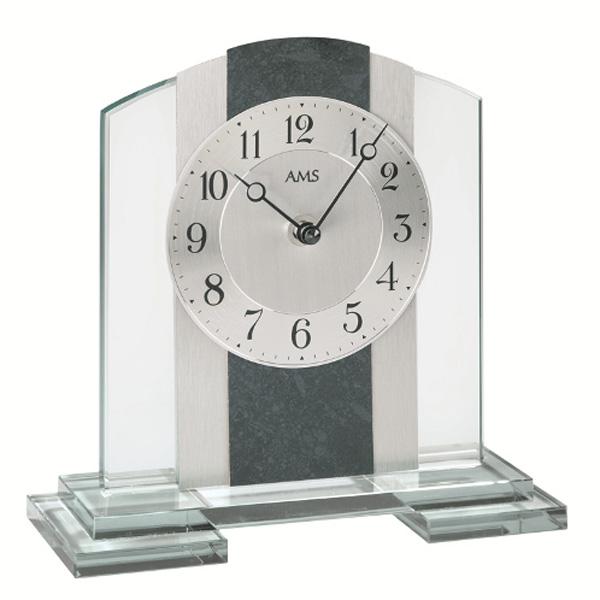【正規輸入品】ドイツ アームス AMS 1121 クオーツ 置き時計 (置時計) ブラック 【記念品 贈答品に名入れ(銘板作成)承ります】【熨斗印刷承ります】