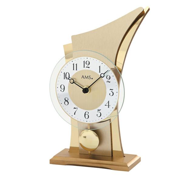 【正規輸入品】ドイツ アームス AMS 1137 クオーツ 置き時計 (置時計) 振り子つき ゴールド 【記念品 贈答品に名入れ(銘板作成)承ります】【熨斗印刷承ります】
