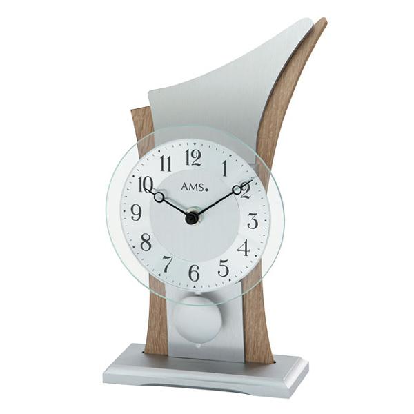 【正規輸入品】ドイツ アームス AMS 1139 クオーツ 置き時計 (置時計) 振り子つき ナチュラル 【記念品 贈答品に名入れ(銘板作成)承ります】【熨斗印刷承ります】
