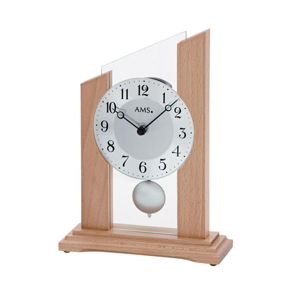 【正規輸入品】ドイツ アームス AMS 1171 クオーツ 置き時計 (置時計) 振り子つき ナチュラル 【記念品 贈答品に名入れ(銘板作成)承ります】【熨斗印刷承ります】