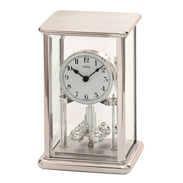 【正規輸入品】ドイツ アームス AMS 1210 クオーツ 置き時計 (置時計) シルバー 【記念品 贈答品に名入れ(銘板作成)承ります】【熨斗印刷承ります】