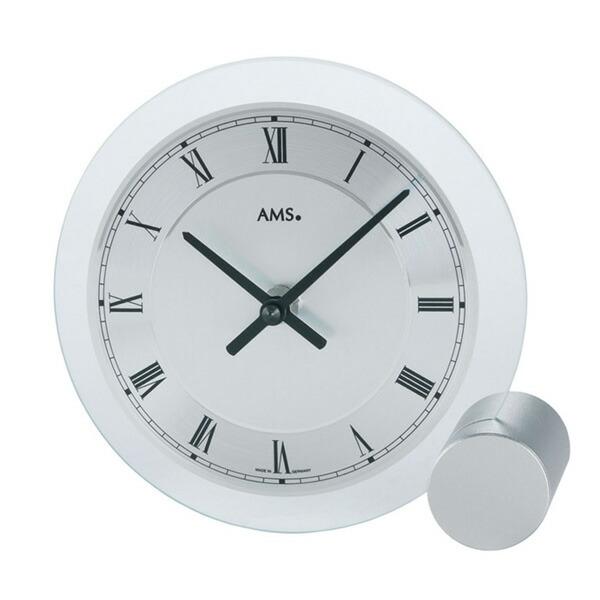 【正規輸入品】ドイツ アームス AMS 166 クオーツ 置き時計 (置時計) シルバー 【記念品 贈答品に名入れ(銘板作成)承ります】【熨斗印刷承ります】