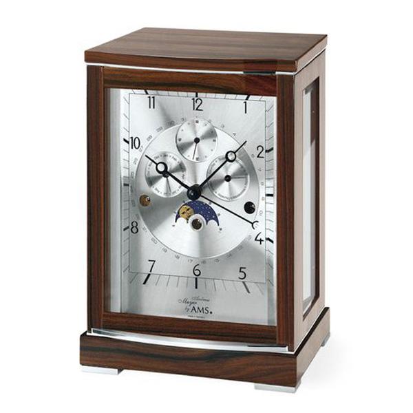 【正規輸入品】ドイツ アームス AMS 2171-1 機械式 置き時計 (置時計) ムーンフェイズ チャイムつき 【記念品 贈答品に名入れ(銘板作成)承ります】【熨斗印刷承ります】[送料区分(大)]
