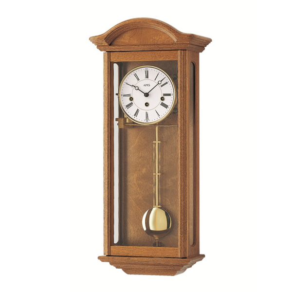 【正規輸入品】ドイツ アームス AMS 2606-4 機械式 掛け時計 (掛時計) チャイムつき オークブラウン 【記念品 贈答品に名入れ(銘板作成)承ります】【熨斗印刷承ります】[送料区分(大)]