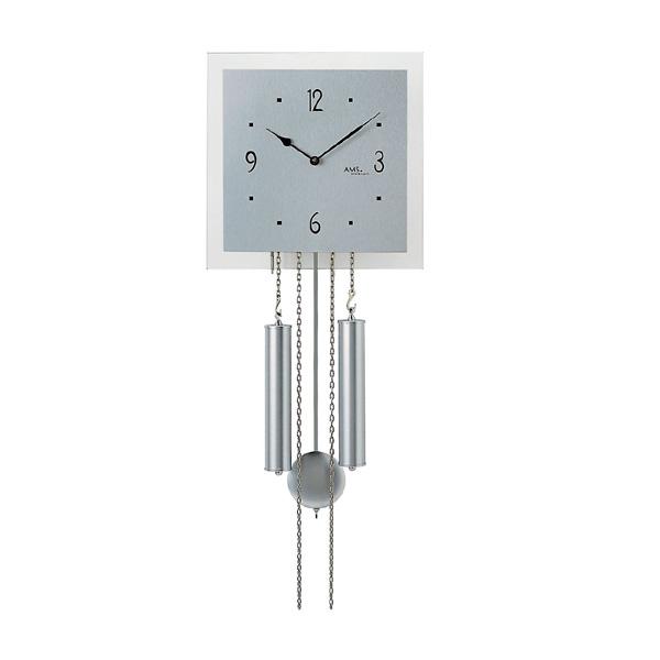 【正規輸入品】ドイツ アームス AMS 354 機械式 掛け時計 (掛時計) ベルつき シルバー 【記念品 贈答品に名入れ(銘板作成)承ります】【熨斗印刷承ります】[送料区分(大)]