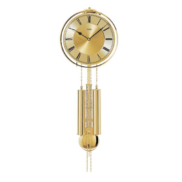 【正規輸入品】ドイツ アームス AMS 356 機械式 掛け時計 (掛時計) ベルつき ゴールド 【記念品 贈答品に名入れ(銘板作成)承ります】【熨斗印刷承ります】[送料区分(大)]