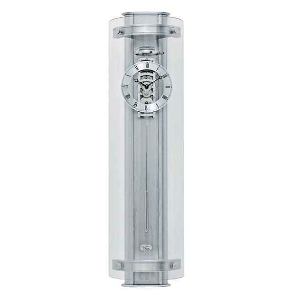【正規輸入品】ドイツ アームス AMS 633 機械式 掛け時計 (掛時計) ベルつき シルバー 【記念品 贈答品に名入れ(銘板作成)承ります】【熨斗印刷承ります】[送料区分(大)]
