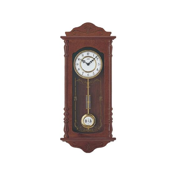 【正規輸入品】ドイツ アームス AMS 7013-1 木製クオーツ柱時計 振り子つき ダークブラウン 【記念品 贈答品に名入れ(銘板作成)承ります】【熨斗印刷承ります】[送料区分(大)]