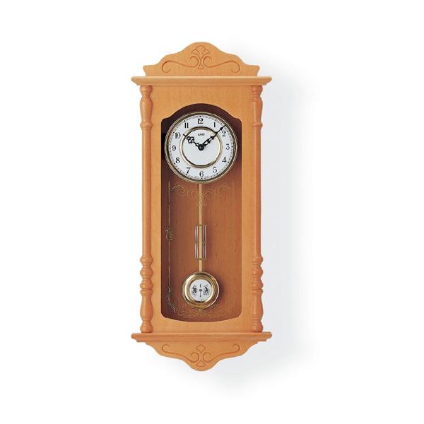 【正規輸入品】ドイツ アームス AMS 7013-16 木製クオーツ柱時計 振り子つき ライトブラウン 【記念品 贈答品に名入れ(銘板作成)承ります】【熨斗印刷承ります】[送料区分(大)]