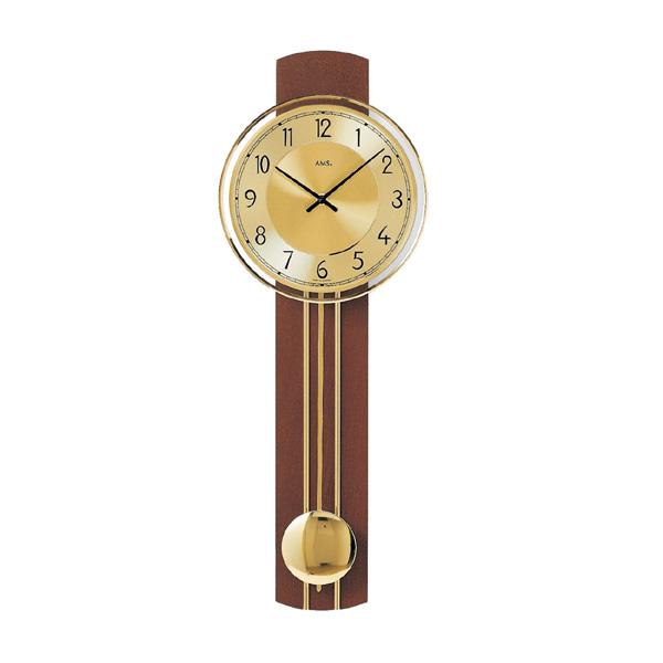 【正規輸入品】ドイツ アームス AMS 7115-1 木製クオーツ 掛け時計 (掛時計) 振り子つき ダークブラウン 【記念品 贈答品に名入れ(銘板作成)承ります】【熨斗印刷承ります】[送料区分(大)]
