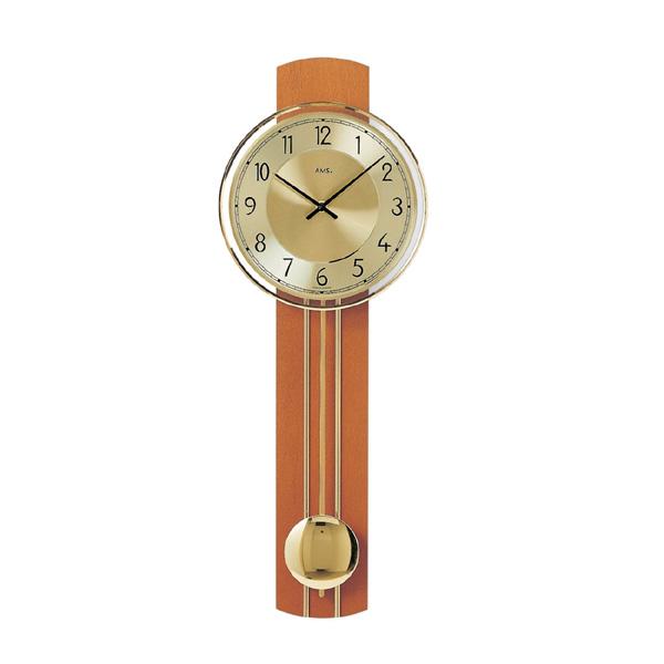 【正規輸入品】ドイツ アームス AMS 7115-9 木製クオーツ 掛け時計 (掛時計) 振り子つき ブラウン 【記念品 贈答品に名入れ(銘板作成)承ります】【熨斗印刷承ります】[送料区分(大)]