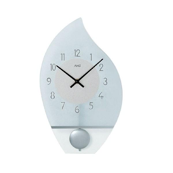 【正規輸入品】ドイツ アームス AMS 7160 クオーツ 掛け時計 (掛時計) 振り子つき シルバー 【記念品 贈答品に名入れ(銘板作成)承ります】【熨斗印刷承ります】[送料区分(大)]