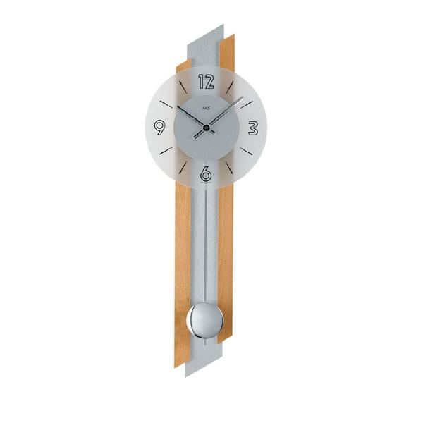 【正規輸入品】ドイツ アームス AMS 7207-18 クオーツ 掛け時計 (掛時計) 振り子つき ライトブラウン 【記念品 贈答品に名入れ(銘板作成)承ります】【熨斗印刷承ります】[送料区分(大)]