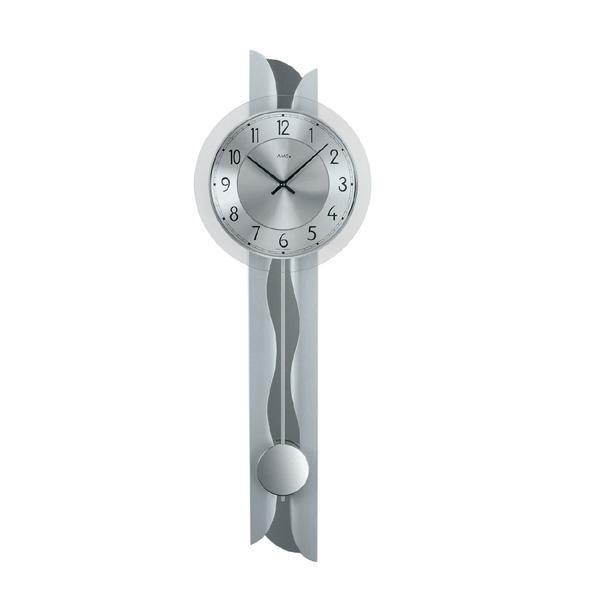【正規輸入品】ドイツ アームス AMS 7216 クオーツ 掛け時計 (掛時計) 振り子つき シルバー 【記念品 贈答品に名入れ(銘板作成)承ります】【熨斗印刷承ります】[送料区分(大)]