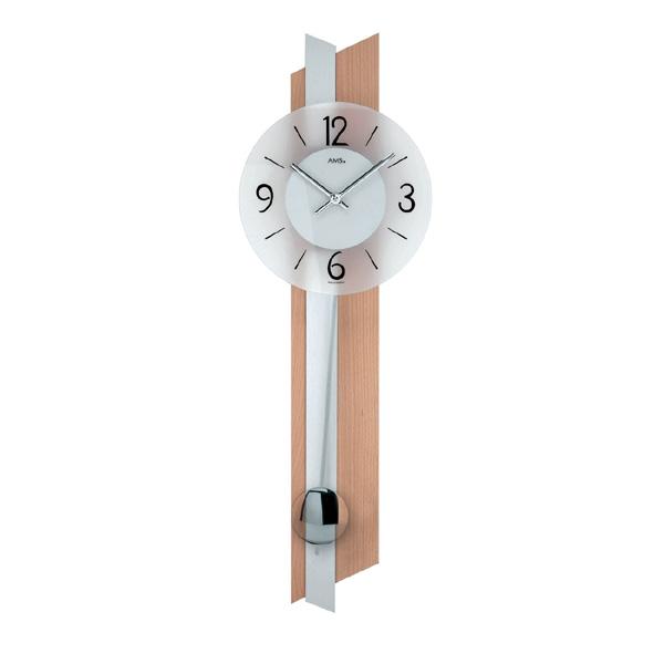 【正規輸入品】ドイツ アームス AMS 7294 クオーツ 掛け時計 (掛時計) 振り子つき ライトブラウン 【記念品 贈答品に名入れ(銘板作成)承ります】【熨斗印刷承ります】[送料区分(大)]