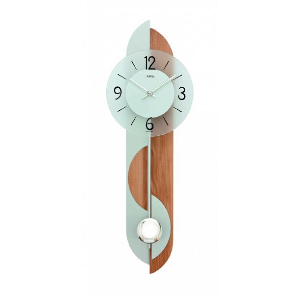 【正規輸入品】ドイツ アームス AMS 7295 クオーツ 掛け時計 (掛時計) 振り子つき ライトブラウン 【記念品 贈答品に名入れ(銘板作成)承ります】【熨斗印刷承ります】[送料区分(大)]