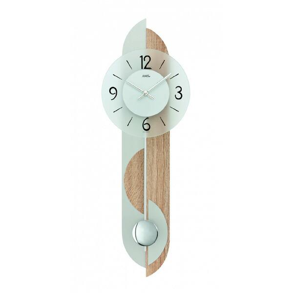 【正規輸入品】ドイツ アームス AMS 7296 クオーツ 掛け時計 (掛時計) 振り子つき ナチュラル 【記念品 贈答品に名入れ(銘板作成)承ります】【熨斗印刷承ります】[送料区分(大)]