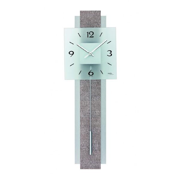 【正規輸入品】ドイツ アームス AMS 7322 クオーツ 掛け時計 (掛時計) 振り子つき グレ- 【記念品 贈答品に名入れ(銘板作成)承ります】【熨斗印刷承ります】[送料区分(大)]