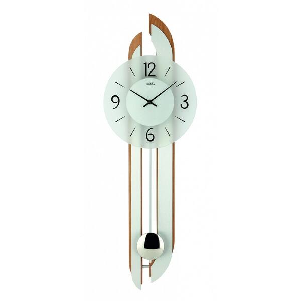 【正規輸入品】ドイツ アームス AMS 7330-18 クオーツ 掛け時計 (掛時計) 振り子つき ブラウン 【記念品 贈答品に名入れ(銘板作成)承ります】【熨斗印刷承ります】[送料区分(大)]
