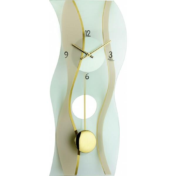 【正規輸入品】ドイツ アームス AMS 7347 クオーツ 掛け時計 (掛時計) 振り子つき ゴールド 【記念品 贈答品に名入れ(銘板作成)承ります】【熨斗印刷承ります】[送料区分(大)]