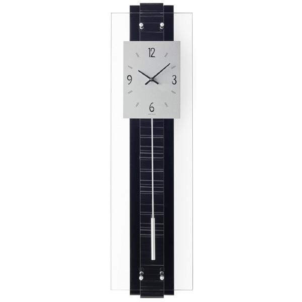 【正規輸入品】ドイツ アームス AMS 7392 クオーツ 掛け時計 (掛時計) 振り子つき ブラック 【記念品 贈答品に名入れ(銘板作成)承ります】【熨斗印刷承ります】[送料区分(大)]