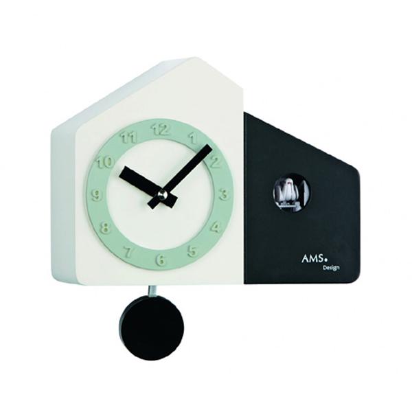 【正規輸入品】ドイツ アームス AMS 7397 クオーツ 鳩時計 カッコー ブラック 【記念品 贈答品に名入れ(銘板作成)承ります】【熨斗印刷承ります】[送料区分(大)]