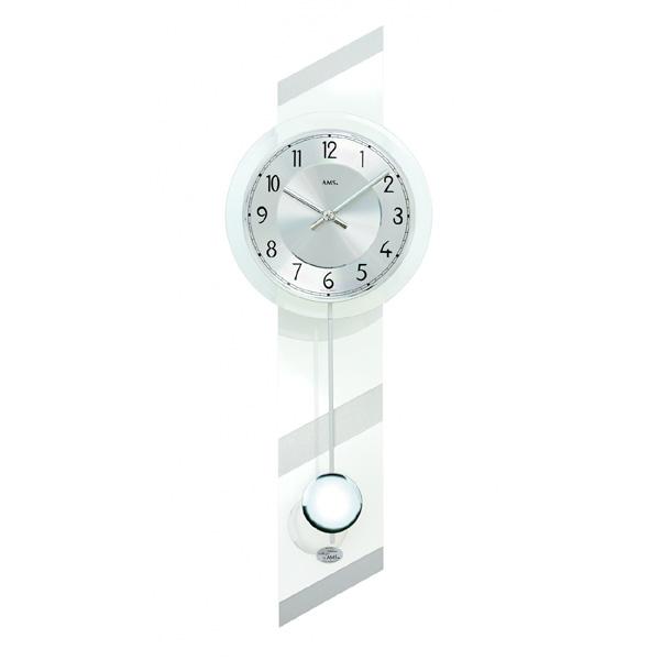 【正規輸入品】ドイツ アームス AMS 7414 クオーツ 掛け時計 (掛時計) 振り子つき ホワイト 【記念品 贈答品に名入れ(銘板作成)承ります】【熨斗印刷承ります】[送料区分(大)]