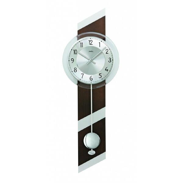 【正規輸入品】ドイツ アームス AMS 7415-1 クオーツ 掛け時計 (掛時計) 振り子つき ブラウン×シルバー 【記念品 贈答品に名入れ(銘板作成)承ります】【熨斗印刷承ります】[送料区分(大)]